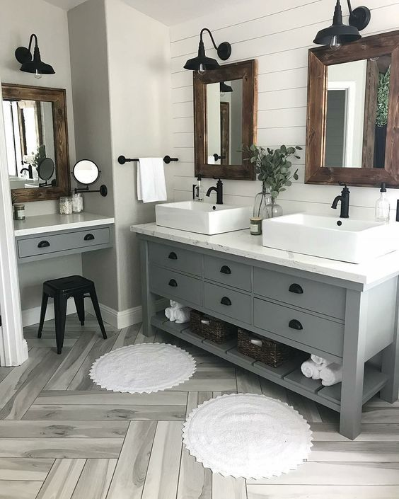 Modern Farmhouse Bathroom Renovation Complete Your Bathroom With