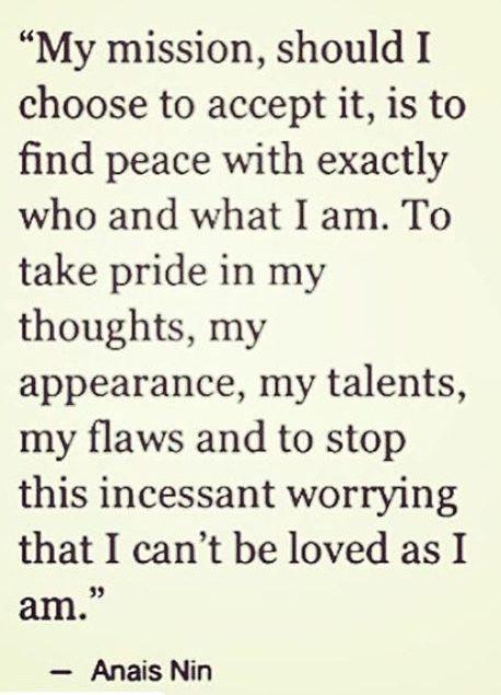 Stop & love myself