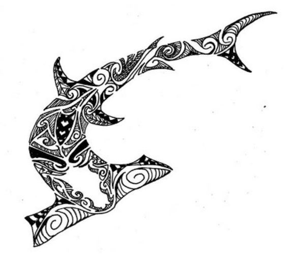 tubarC3A3o+hammer_shark_tribal_design_by_jeraud92140