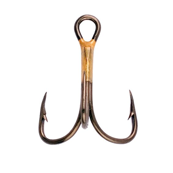 Eagle Claw Lazer 2x Treble Reg Shank Curved Point Hook Size 1