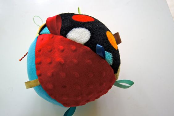 Ribbon Ball with Crinkly Paper by jamsdesignsdotcom on Etsy