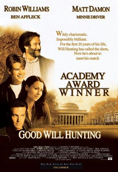 1997 - El indomable Will Hunting (Good Will Hunting) - Gus Van Sant