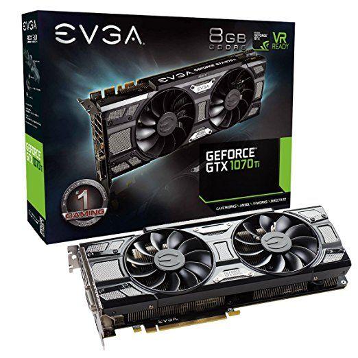 Amazon Com Evga Geforce Gtx 1070 Ti Sc Gaming Acx 3 0 Black Edition 8gb Gddr5 Evga Ocx Scanner Oc White Led Dx12osd Supp Graphic Card Nvidia Black Edition
