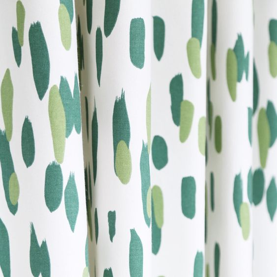 Green Curtains apple green curtains : A fun, brush stroke fabric in an apple green, soft emerald green ...