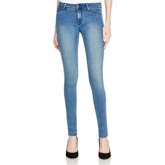 Res Denim Trash Queen Skinny Jeans in 89 Vintage ($73) ❤ liked on Polyvore featuring jeans, vintage, skinny leg jeans, blue wash jeans, cut skinny jeans, blue jeans and skinny jeans