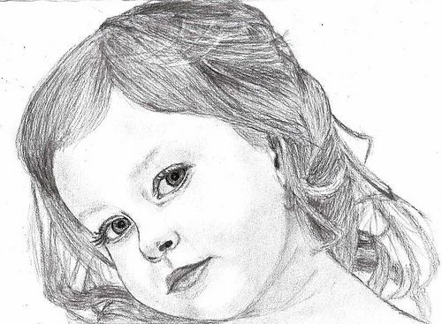 How to draw children realistic expressions theme how to for How to draw a little girl easy