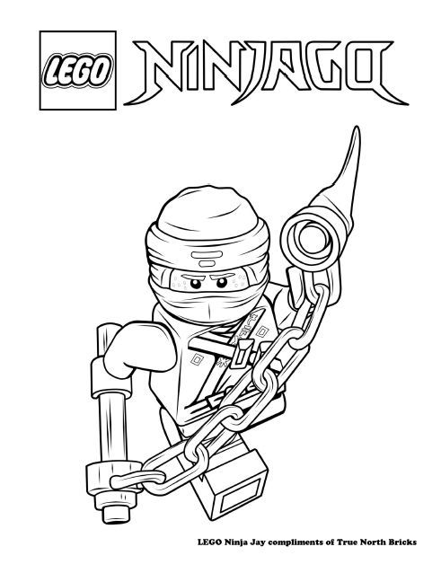 Coloring Page Ninja Jay True North Bricks In 2020 Ninjago