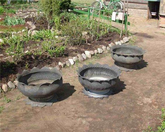 vasos de pneu
