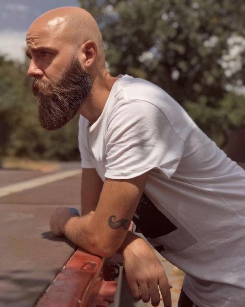 Beardy Bloke Bald Men With Beards Bald With Beard Long Hair Styles Men