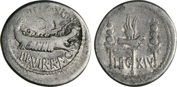 NumisBids: Numismatica Varesi s.a.s. Auction 65, Lot 124 : MARC'ANTONIO (32-31 a.C.) Denario, leg. XIV. B. 123 Syd. 1234 ...