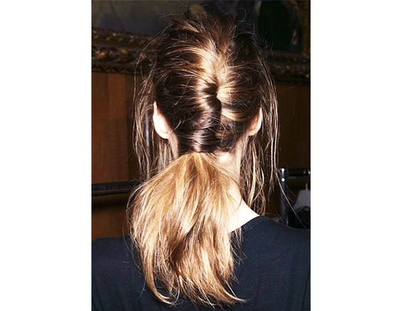 @Byrdie Beauty - Instead of twisting your French braid up, let the ends fall into a ponytail, as seen on Rahua's Pinterest board.