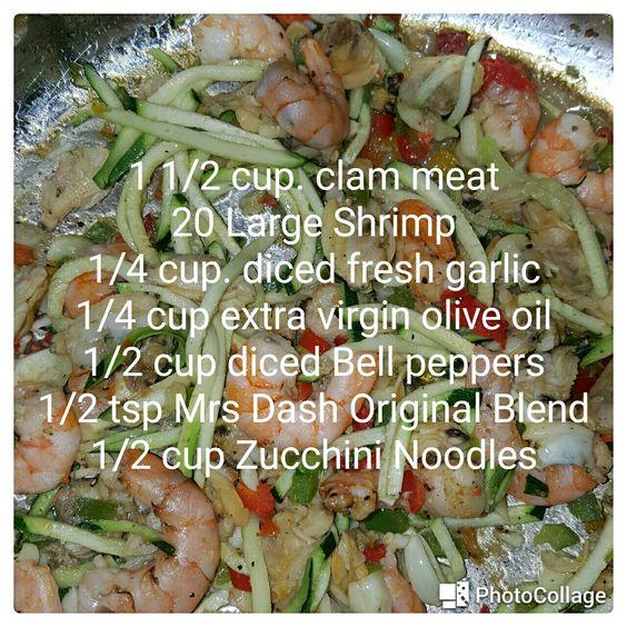 Seafood and veggies