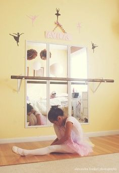 Ballet Barre using 3 mirrors.