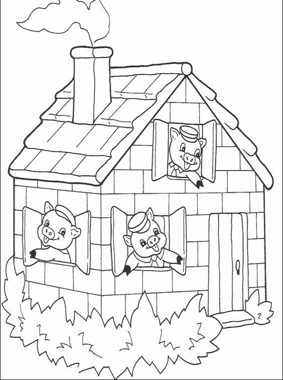 três porquinhos colorir - Pesquisa Google