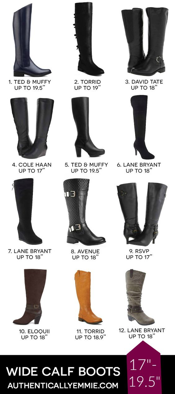 Wide Calf Boot Shopping Guide from @emilyjoanho