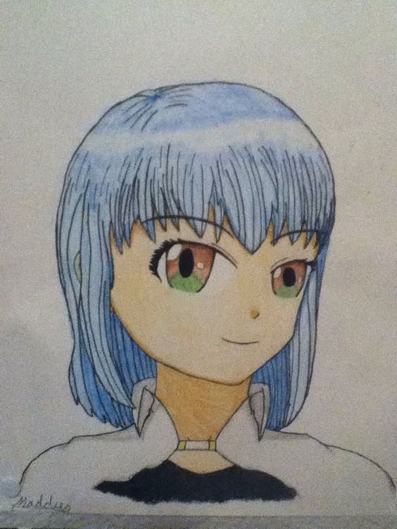 Me, Anime style! (A couple years ago). ©Madeline Secules#TDQ