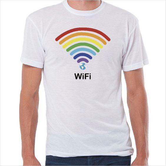 Camiseta friki  Mundo WI-FI