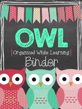 FREEBIE - This editable OWL Binder can used to create a communication binder for your kiddos.   http://thecrazyschoolteacher.blogspot.com