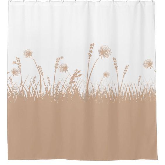 Dandelion In Autumn Fall Garden Shower Curtain Zazzle Com