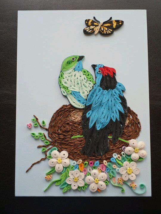 Pairs of birds by Simona