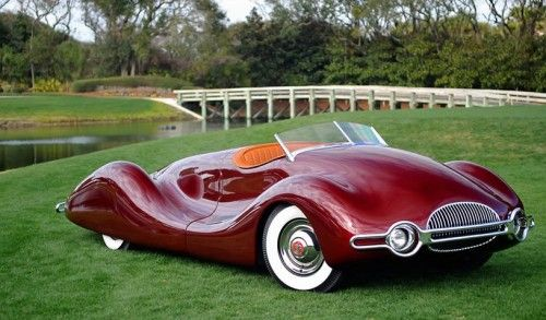 Color clash? Orange and red?  1948 Buick Streamliner by Norman E Timbs