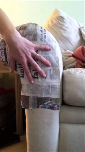 How To Make A Template For A Sofa Arm Cover Diy Furniture