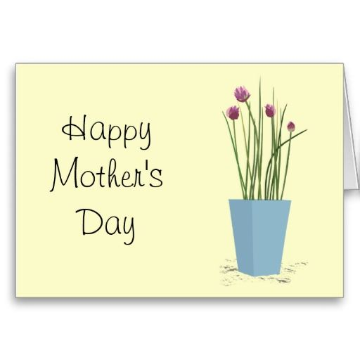 Chives - Mothers Day Card Template Mothers day card Pinterest - mothers day card template