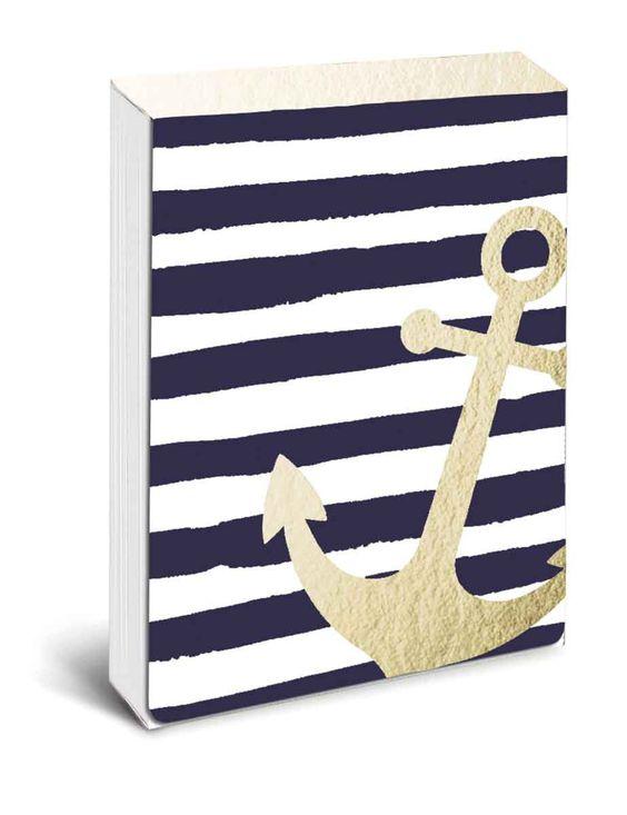 Navy Anchor A7 Notepad