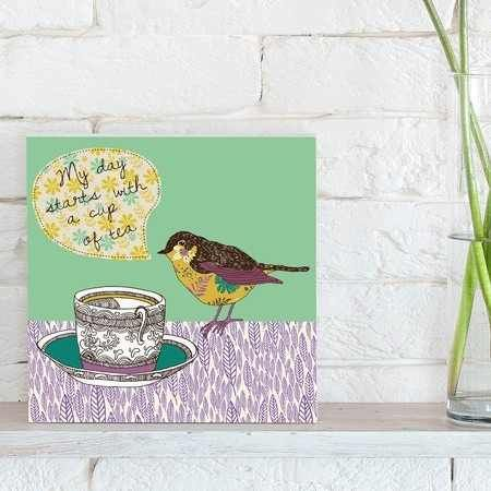 quadro decorativo tea bird