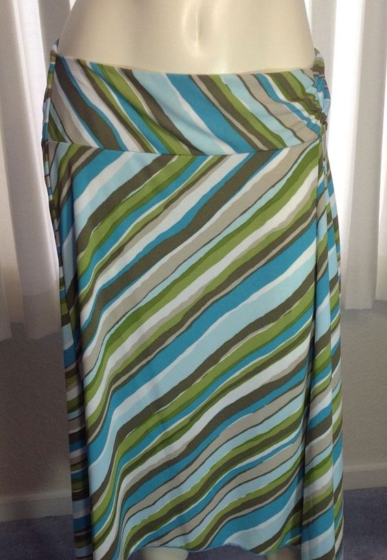 New York & Company Skirt Size Small S Multi Color Stripes New w Tags