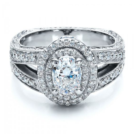 Oval diamond Diamond engagement rings and Engagement rings on Pinterest