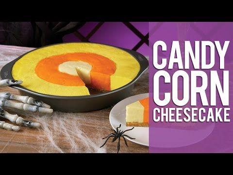 How to Make a Candy Corn Cheesecake - YouTube