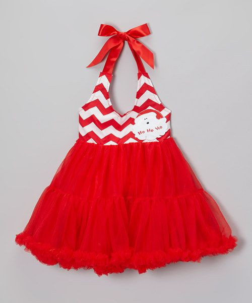 Take a look at this Red Santa Halter Pettiskirt Dress - Infant & Girls on zulily today!