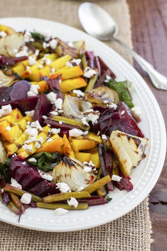 Roasted Beet and Onion Salad with Feta Cheese | Recipe | Onion Salad ...