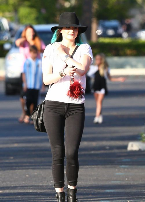 June 10, 2014- Kylie Jenner out in Calabasas.