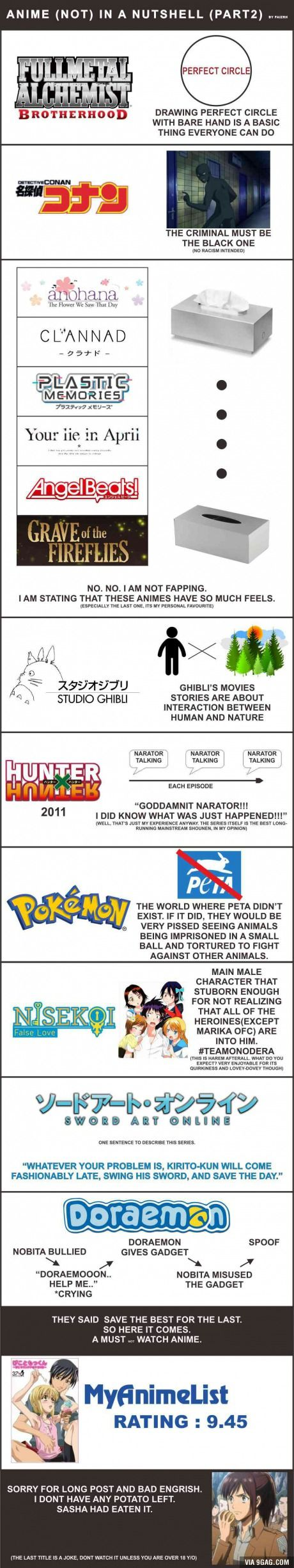 Anime in a nutshell (Part2)- whoever made this f#@$ you for the bottom one jeeeeeeezzz.