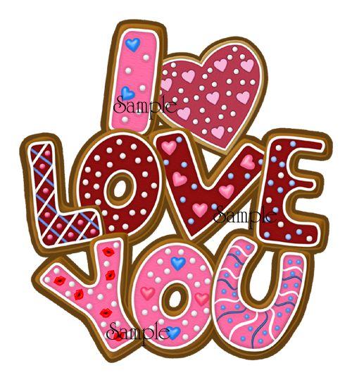 Love Cookies - Word Art   Fonts and Words   Pinterest   Word Art ...