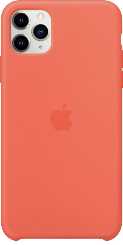 Apple Iphone 11 Pro Max Silicone Case Clementine Orange Mx022zm A Best Buy Iphone Iphone 11 Silicon Case