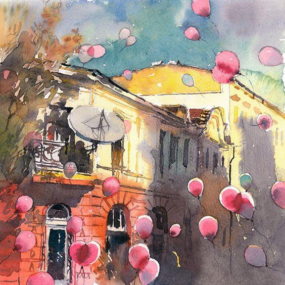 Balloons by Kalina Toneva, via Behance