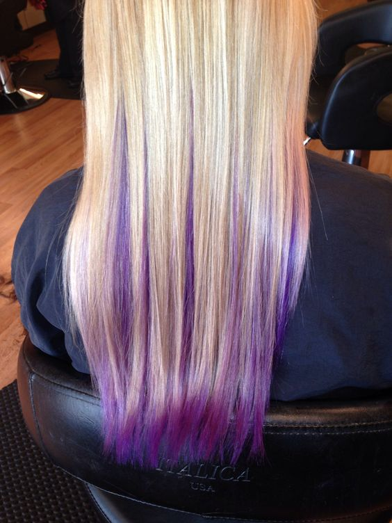 Blonde With Purple Underneath Hair And Makeup My