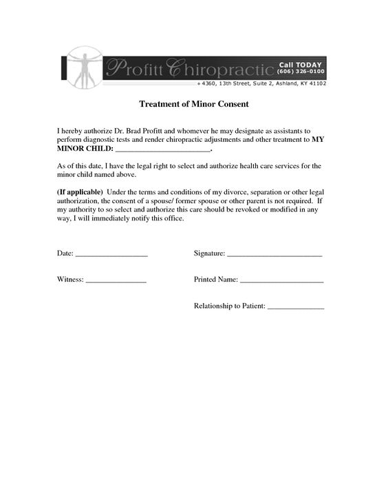 medical consent letter sample authorization example minor child - sample severance agreement
