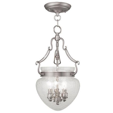 Livex Lighting 5041-91 Duchess Convertible Chain Hang/Ceiling Mount in Brushed Nickel