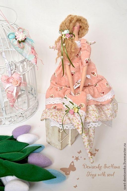 Купить Тильда.  Фея Любви! - розовый, тильда ангел, тильда фея, тильда, тильда кукла: