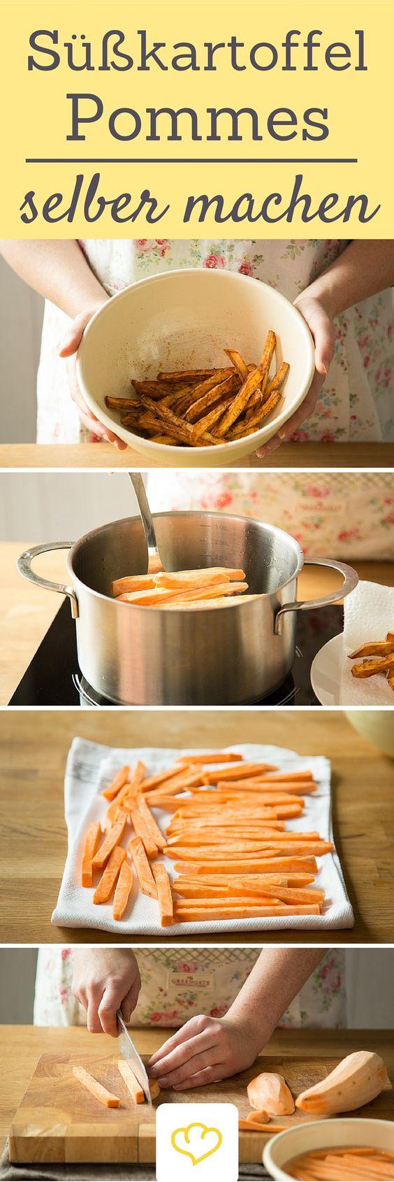So kann nichts mehr schief gehen: Schritt für Schritt erklärt wie du knusprige Süßkartoffel-Pommes ganz einfach selber machen kannst!