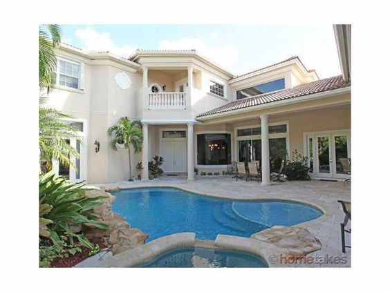 This home at Mizner Country Club in Delray Beach, Florida just went on the market. 6 bedrooms, 7.5 bathrooms, 3 car garage, over 4,800 square feet of living space, beautiful pool area/outdoor living space, and a view of the lake/golf course. Worth a look by anyone looking to purchase at Mizner Country Club in Delray Beach, Florida.