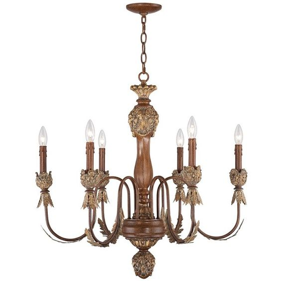 Kathy Ireland Cristobal 30 1 2 Wide 6 Light Gold Leaves Chandelier 200 Liked On Polyvore Featuring Home Lighting Ceilin Chandelier Painting Lamps Light