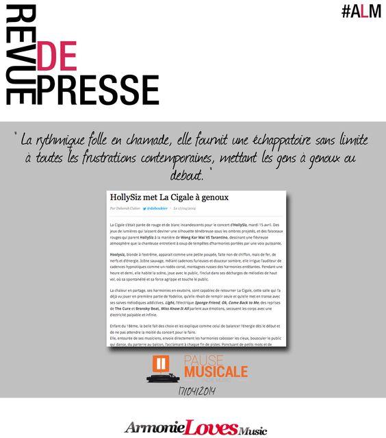 Article concert Hollysiz sur Pause Musicale !
