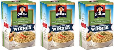 Quaker Introduces Apple Cheddar Rosemary Instant Oatmeal