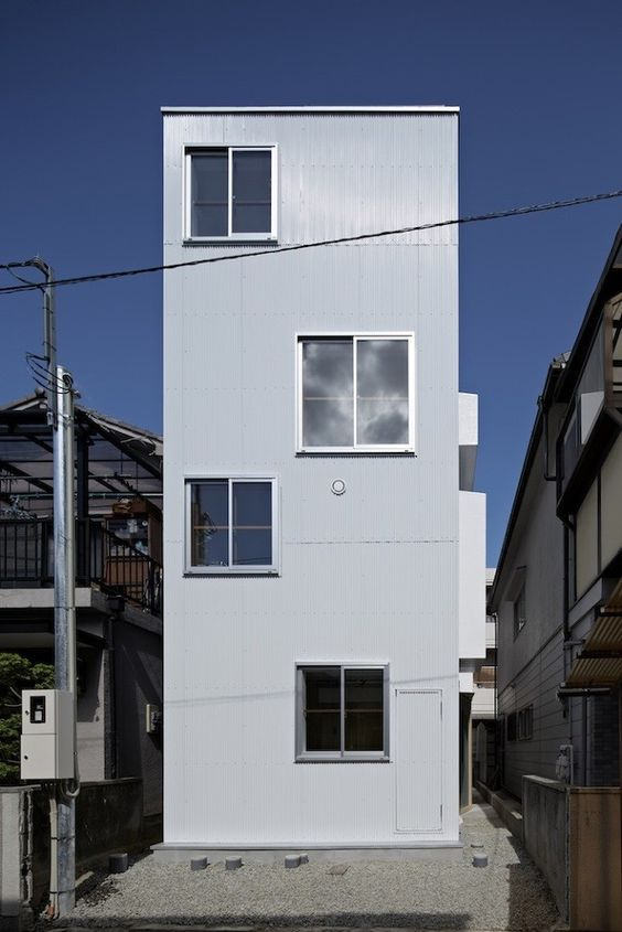 Itami House by Tato Architects, corrugated metal | Remodelista