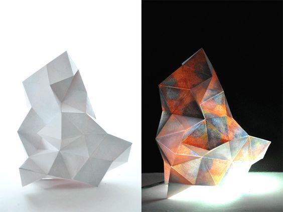 ジオラマ照明 秋の山と冬の山 | TAKEHANAKE design studio